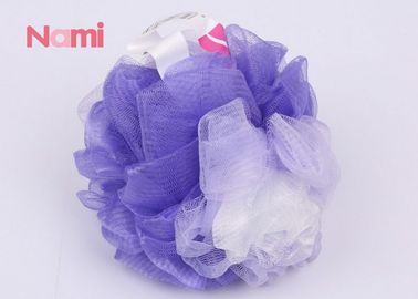 Colorful Net Plastic Bath Sponge Body Cleaning Various Color For Massage