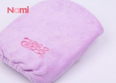 Hair Drying Microfiber Shower Cap , Machine Washable Shower Hair Turban