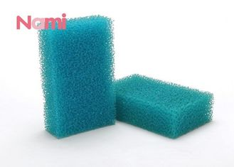 Large Non Scratch Scouring Pad Sponge , Nylon Kitchen Cleaning Scrubber Blue Color