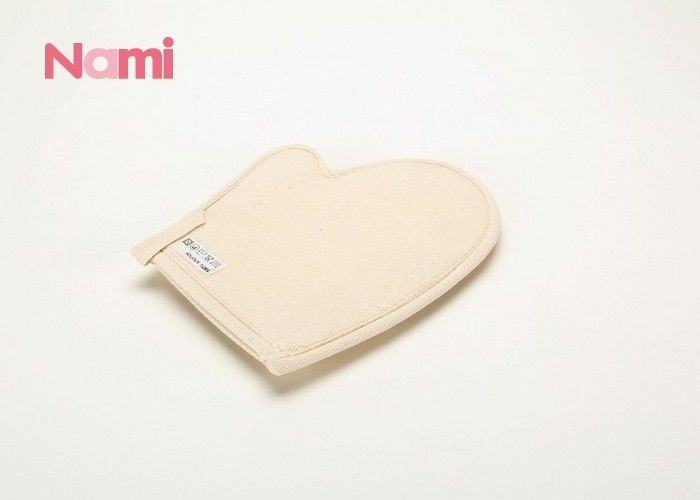 Body Cleaning Viscose Hemp Bath Mitt Oval Shape Customized Size Eco - Friendly