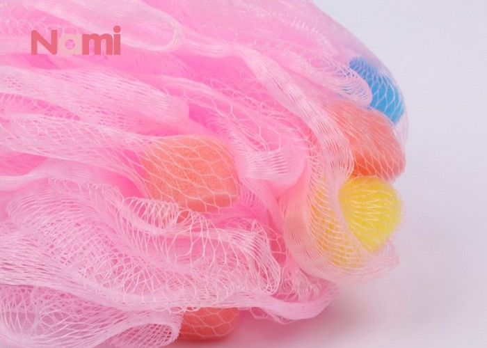 Beautiful Shower Exfoliating Bath Sponge Plastic Material Soft Texture
