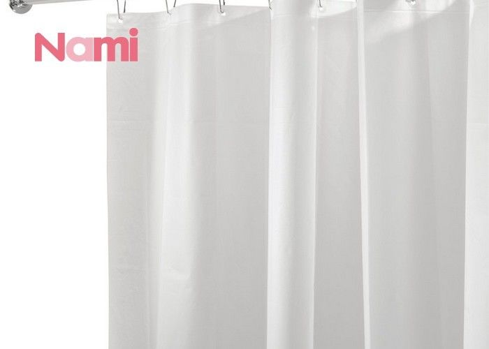 100% Polyester Hotel Shower Curtains , Water Repellent Shower Curtain Easy Clean