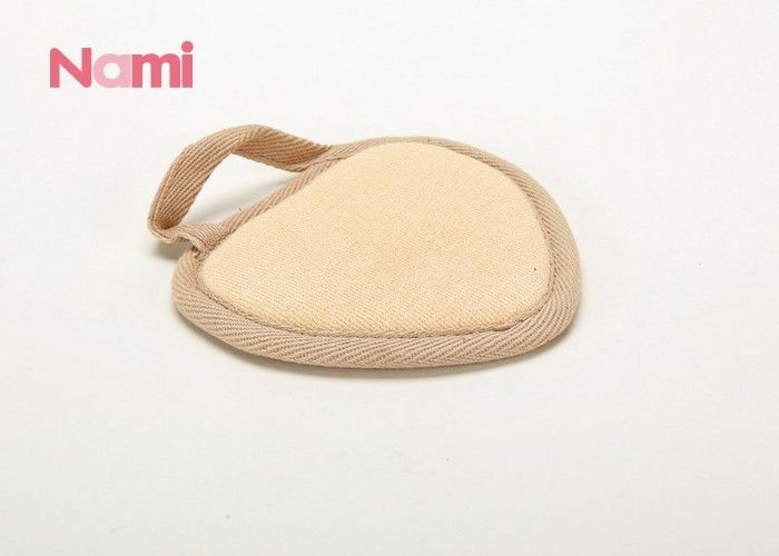 Bathroom / Hotel Exfoliating Loofah Sponge Pad Natural Color 12 * 15cm