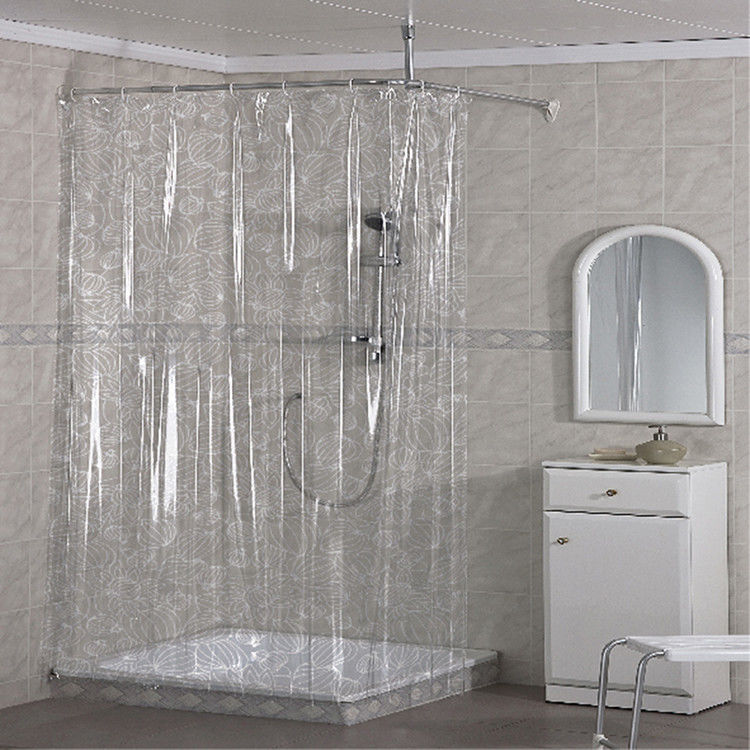 Beautiful PVC Shower Curtain , Custom Printing Waterproof Bathroom Curtains