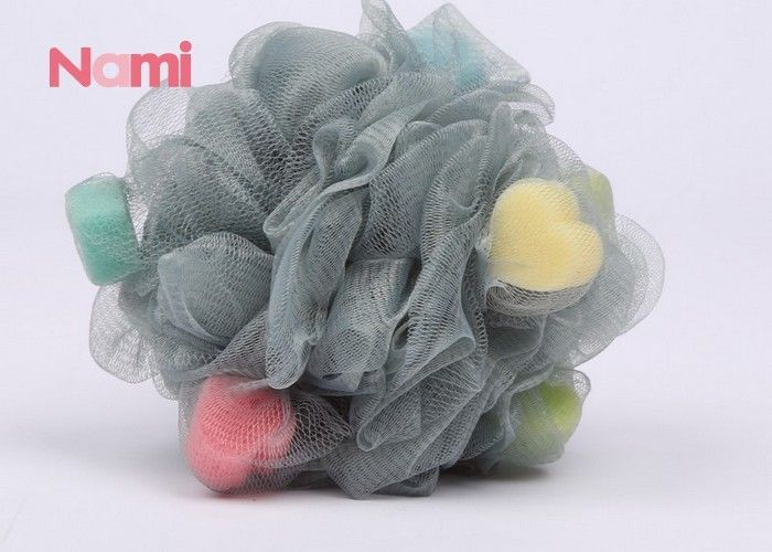 Ball Shape Shower Bath Sponge PE Mesh Daily Home Exfoliating Loofah Mesh Pouf