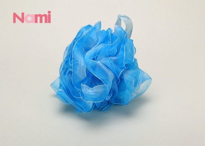 Mesh Pouf Bath Loofah Shower Sponge Flower Shape Body Cleaning For Kids