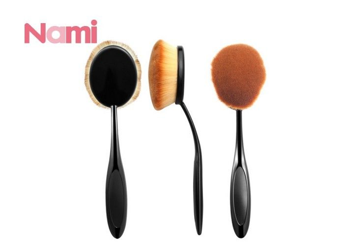 Reusable Face Makeup Brushes Round Handle Nylon Hair Material Cosmetic Tool