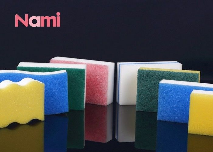 Melamine Foam Multi Cleaner Magic Clean Eraser Cleaning Block Polyester / Polyamide