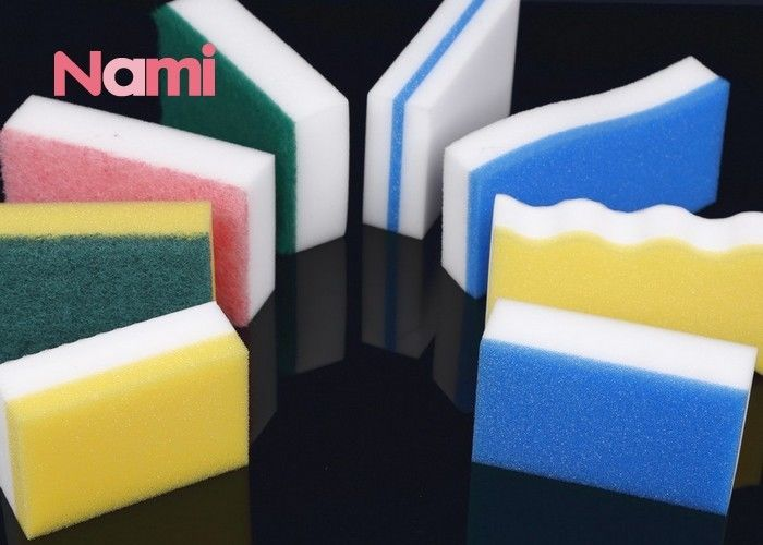 Multicolor Cleaning Magic Sponge Cleaning Pad Eraser Scrub Kitchen SGS Approval