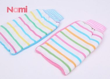 China Colorful Exfoliating Body Gloves , Shower Scrub Glove Removing Dead Skin factory