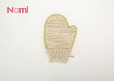 China Common Shape Hemp Body Mitt , Exfoliating Bath Mitt  Eco - Friendly factory