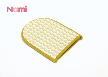 China Hemp Sisal Exfoliating Mitt , Different Sizes Spa Shower Wash Mitt For Bathing factory