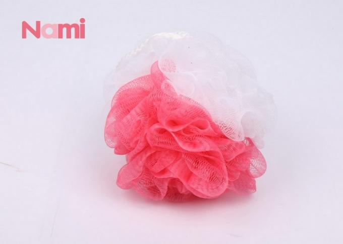 Nylon Exfoliating Shower Sponge With Rope , Large Mesh Shower Sponge