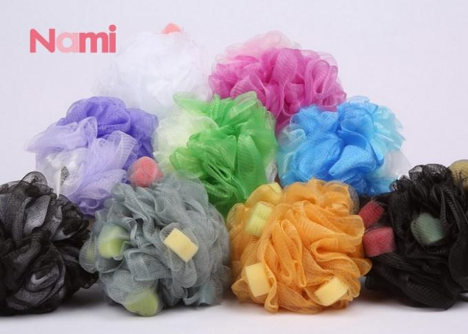 Multifunctional Mesh Body Sponge Soft Touch Color Printing Eco - Friendly