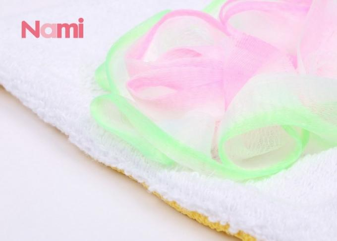 Hard Rough 300D Exfoliating Bath Gloves Viscose Fiber For Body Cleaning