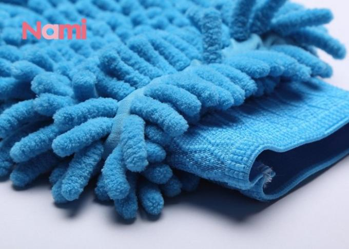 Waterproof Microfiber Car Wash Mitt , Extra Large Car Washing Mitt Glove