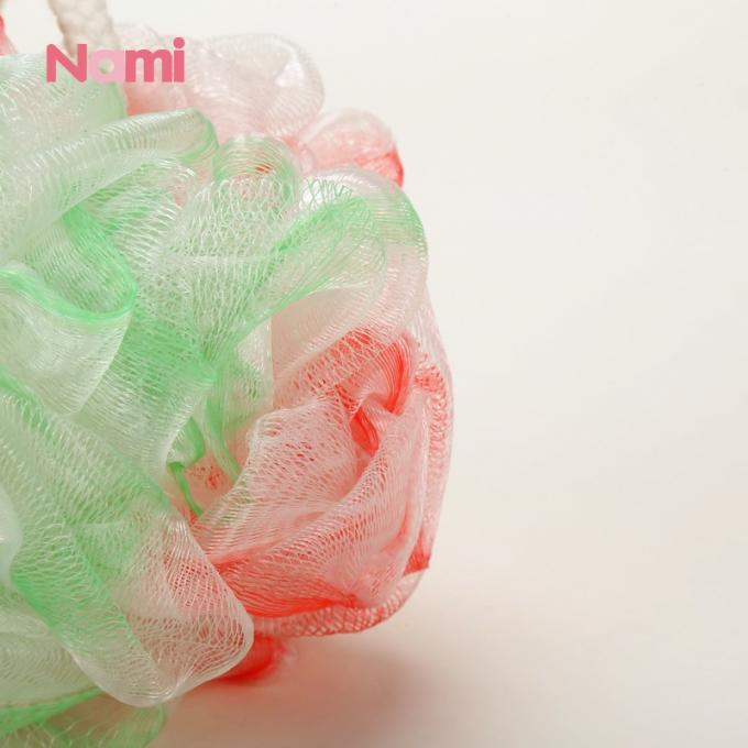 Colorful Flower Shape Shower Bath Sponge PE Mesh 10cm Size Cleaning Body Usage