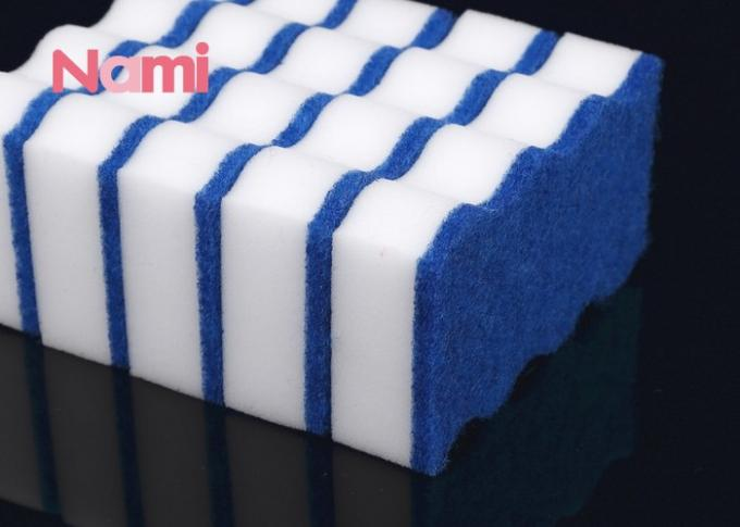 High Density Magic Eraser Cleaning Pads , Compressed Melamine Sponges