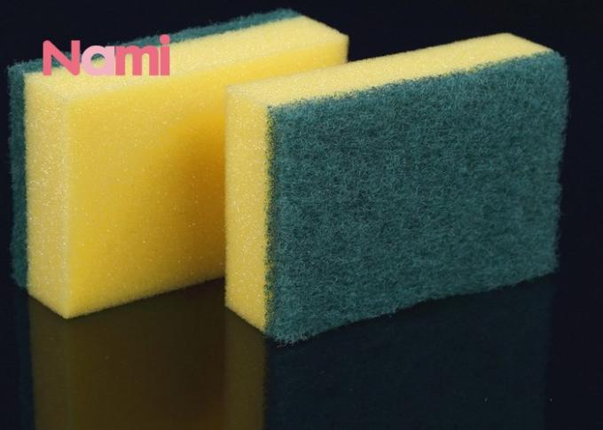 Sponge Foam Magic Eraser Cleaning Pads Melamine Polyester / Polyamide Material